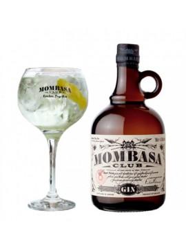 Mombassa Club Gin 70cl. 41,5° + Gin Glas