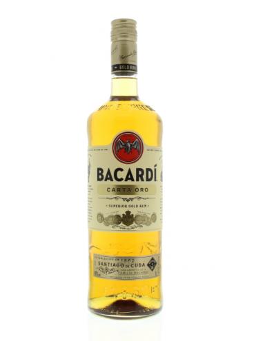 Bacardi Carta Oro Rum 100cl. 37.5°