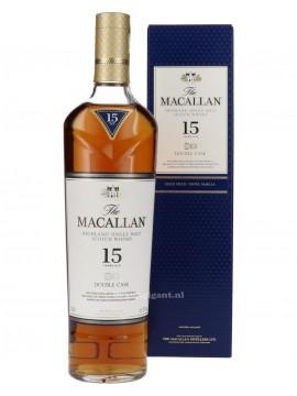 Macallan 15 Years Double Cask Single Malt whisky 70cl.