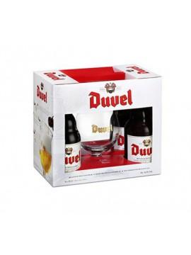Duvel 4x33cl. + glas