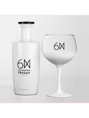 Friday Gin 75cl. cadeaux box + gratis glas