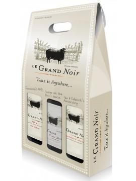 Le Grand Noir Pays d'Oc etui met 3 flessen